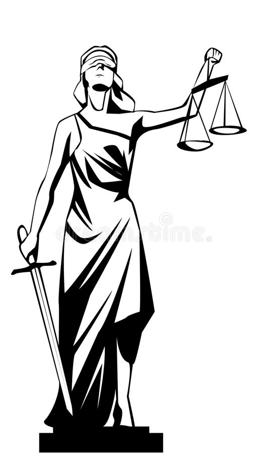 Giustizia di signora illustrazione vettoriale