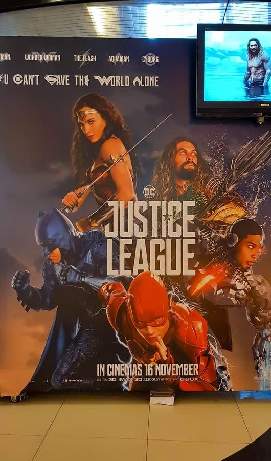 Giustizia League Movie Poster immagine stock libera da diritti