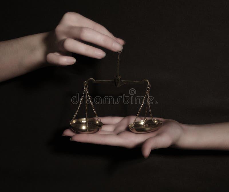 Giustizia sostenente fotografia stock libera da diritti