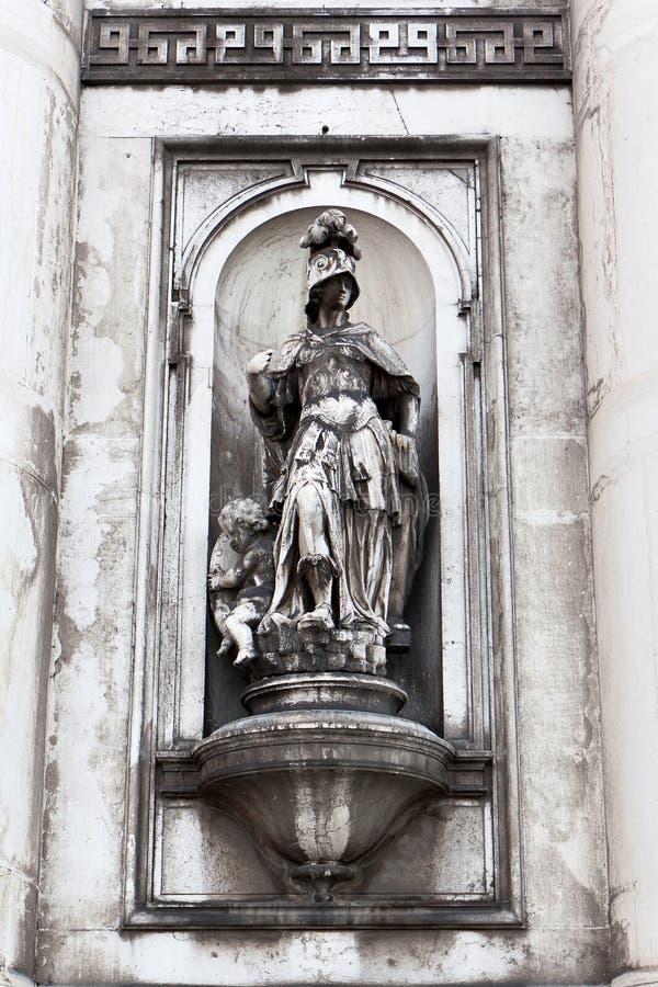 Giustizia Statue, Gesuati, Venezia, Italia immagine stock
