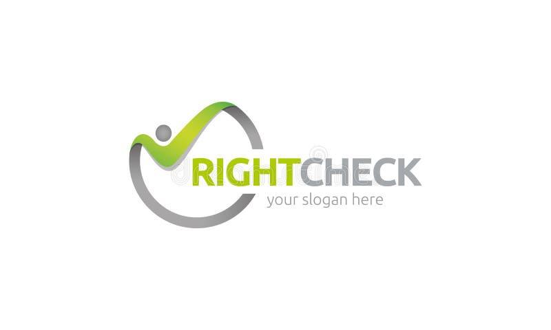 Giusto logo del controllo illustrazione di stock