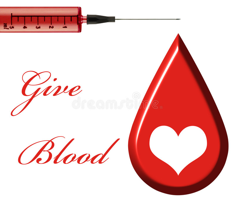 Give Blood vector illustration