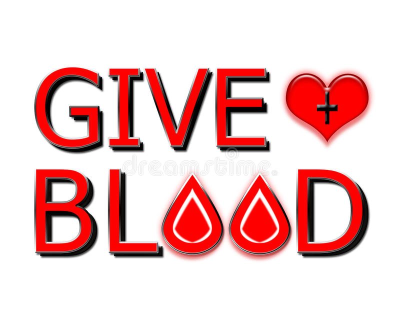 Give Blood, Donate Concept on white stock image