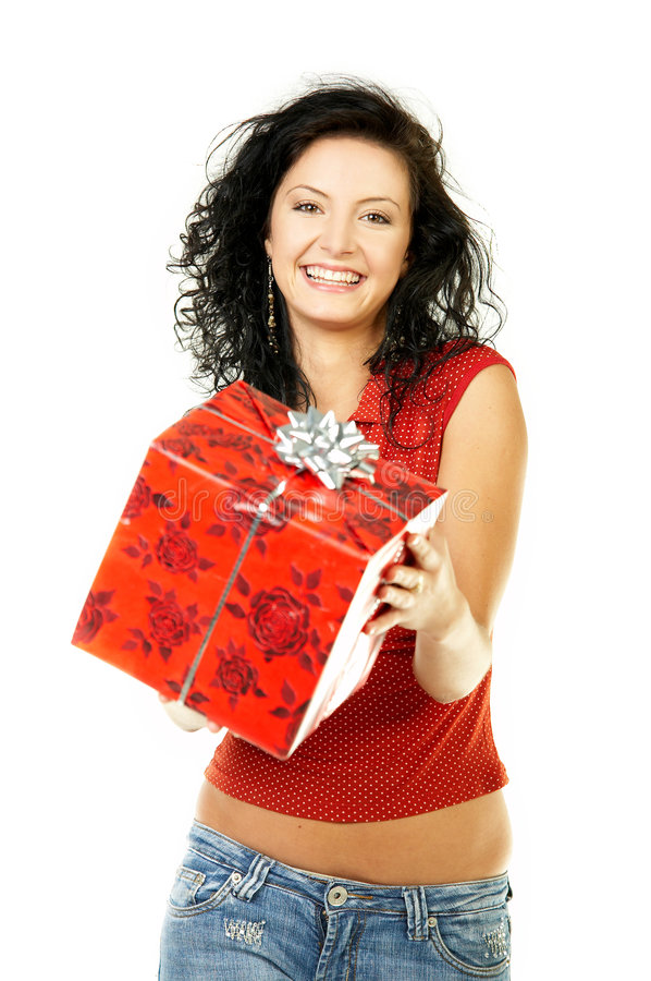 Give A Gift Royalty Free Stock Photos
