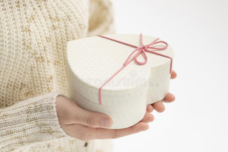 Give a gift box stock photo