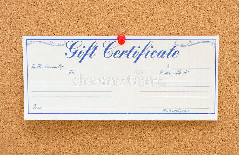 Download Give a Gift Certificate stock photo. Image of reminder - 13509036