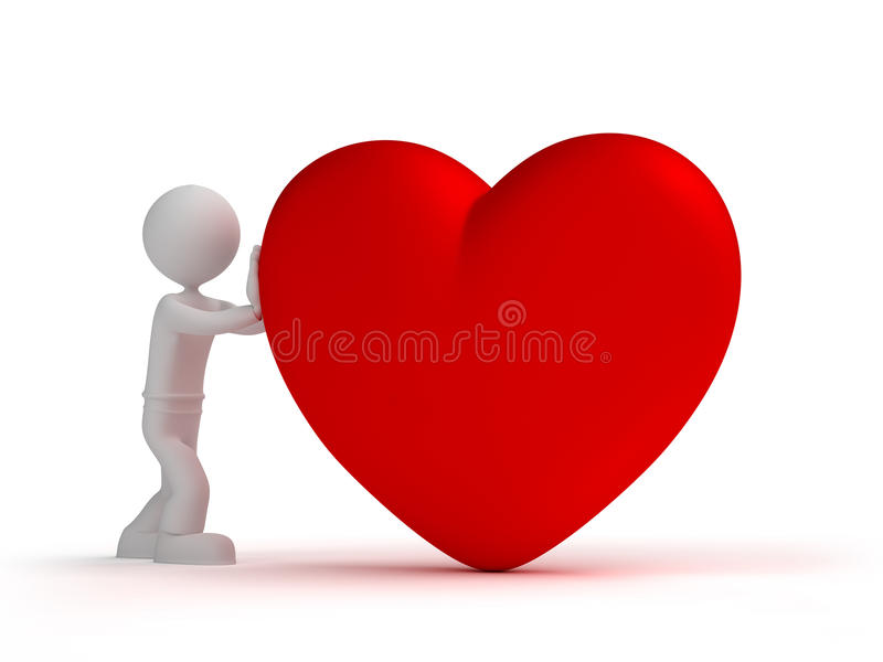 Give heart stock image