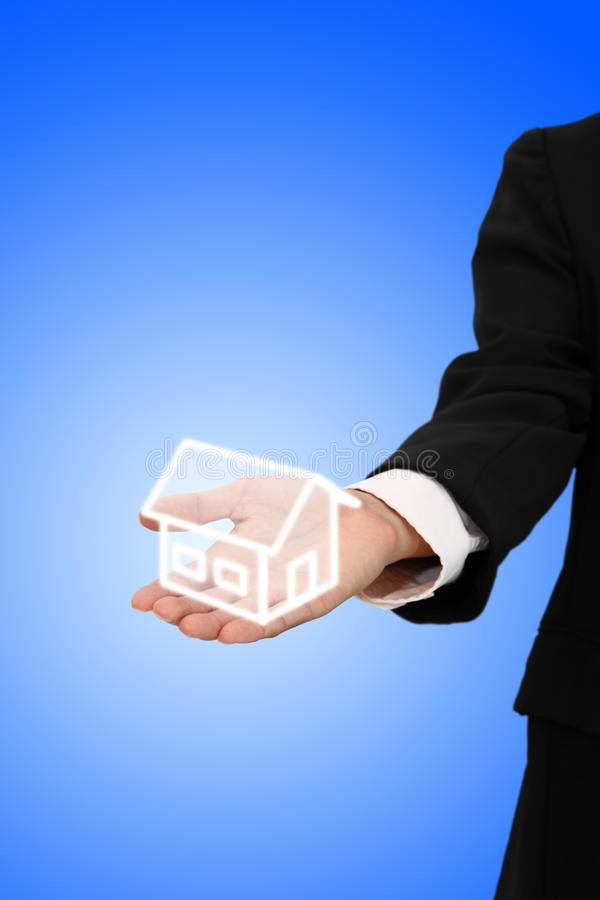 Give house from business royalty free stock images