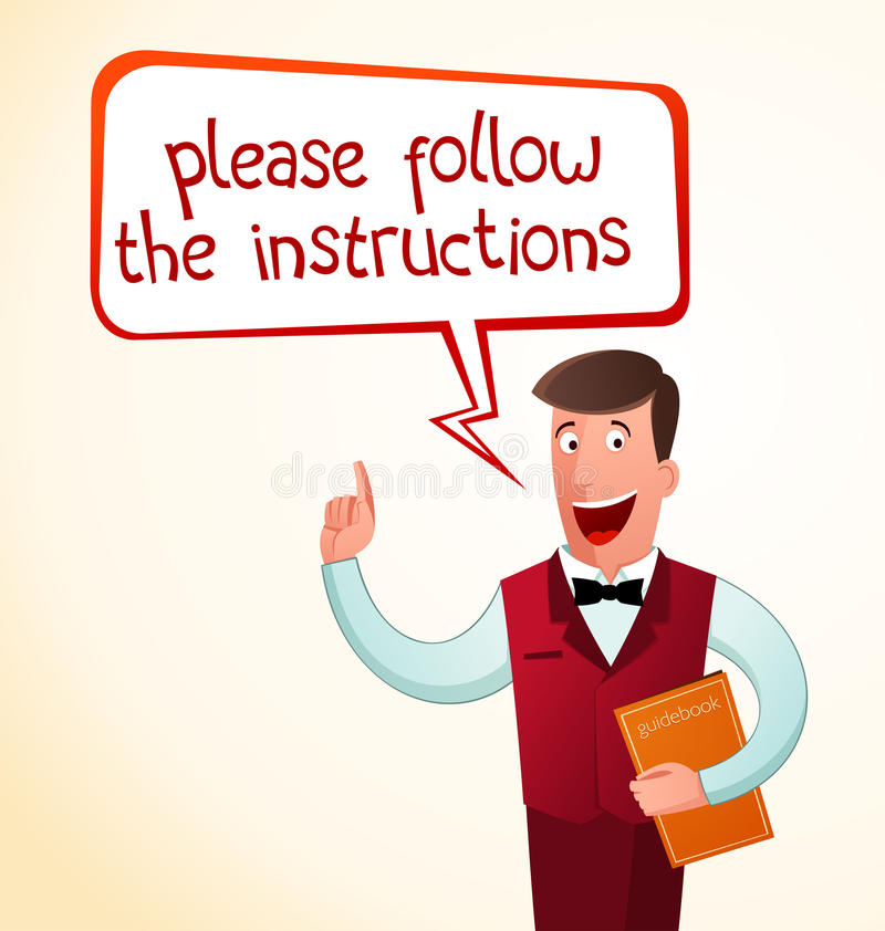 Give an instruction vector illustration