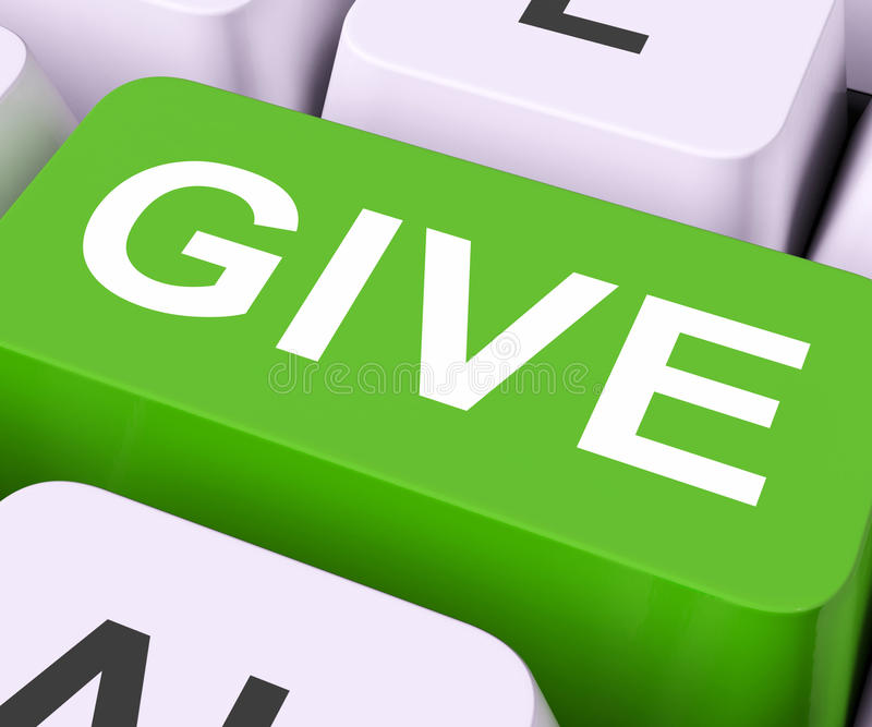 Give Key Means Bestow Or Giving. Give Key Meaning Bestowed Allot Or Grant stock photography