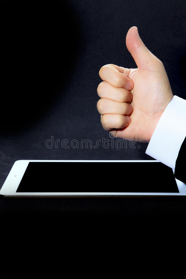 give a like and thumbs up stock image