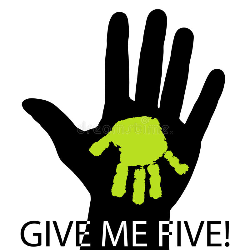 Download Give me five stock vector. Image of hands, fingers, palm - 30830376