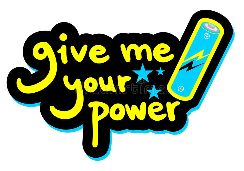 Give me power stock illustration