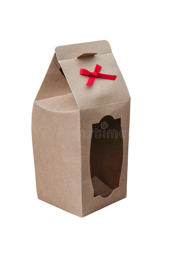 Give paper box royalty free stock image