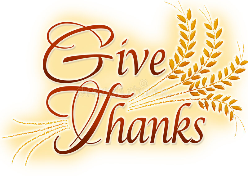 Give Thanks royalty free illustration