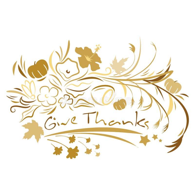 Give Thanks stock illustration