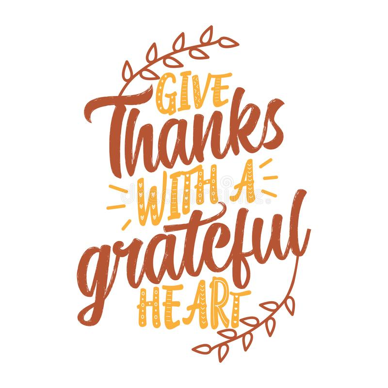 Free Give Thanks With A Grateful Heart Stock Images - 127368274
