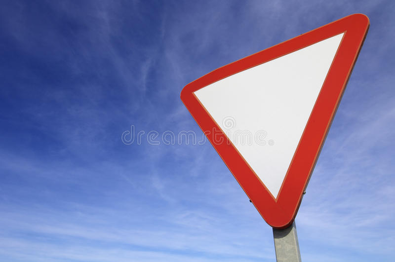 Download Give way stock photo. Image of closeup, blue, caution - 14013646