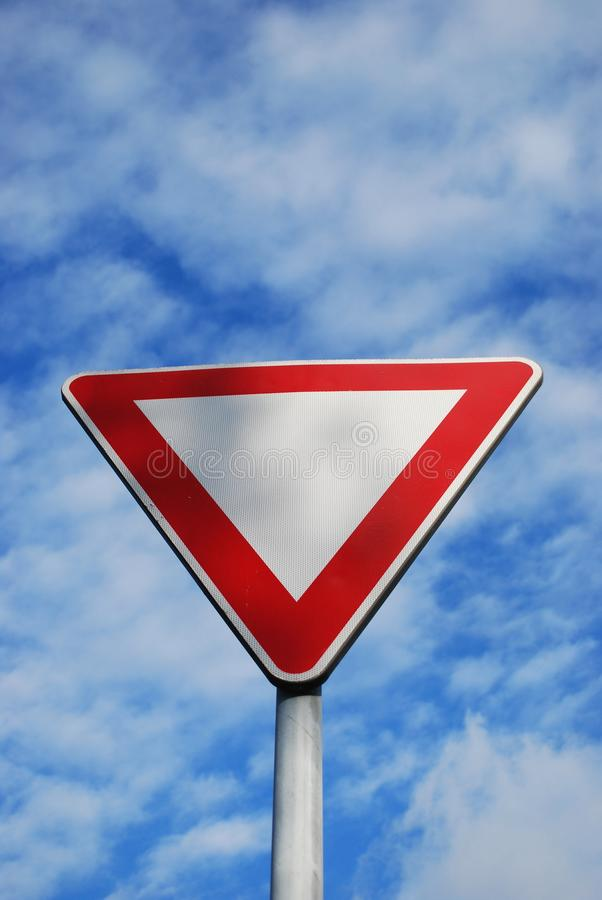 Download Give way stock photo. Image of space, road, metal, signal - 17187330
