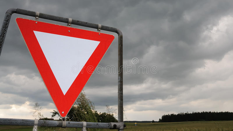 Download Give way no.1 stock image. Image of give, dark, cloud - 11494147