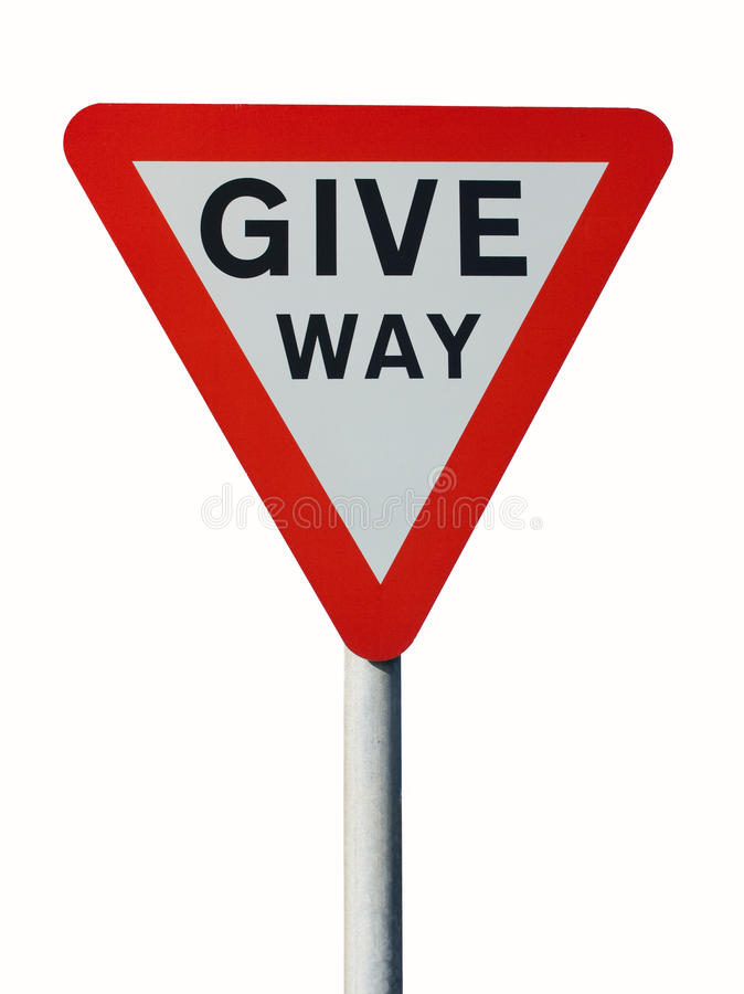 Give way sign royalty free stock photos