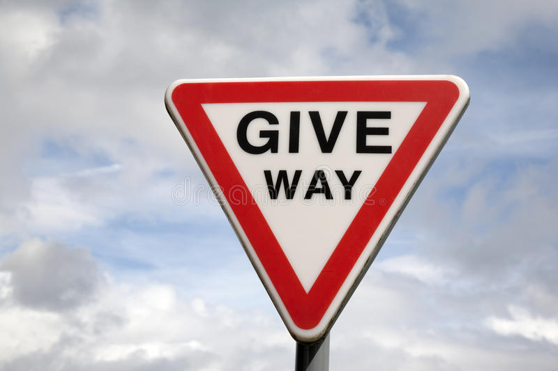 Download Give Way Sign stock image. Image of order, driving, give - 27807393