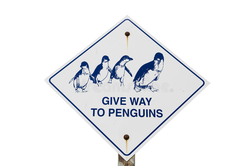 Download Give Way To Penguins stock photo. Image of sign, symbol - 28654864