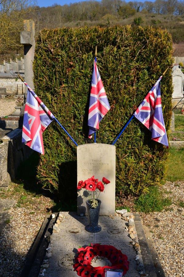 Giverny Francja, Luty, - 29 2016: cmentarz obrazy royalty free