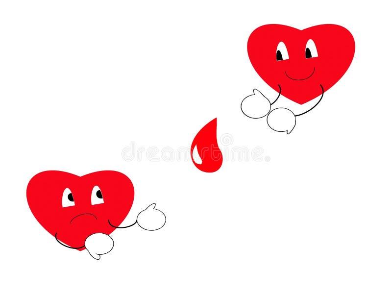 Download Giving blood saves lives stock illustration. Illustration of healthy - 9920409