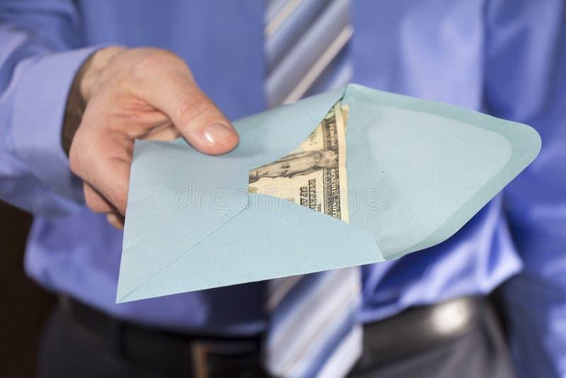 Giving bribe royalty free stock image