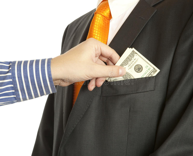 Download Giving A Bribe Into A Pocket Stock Image - Image: 23336877