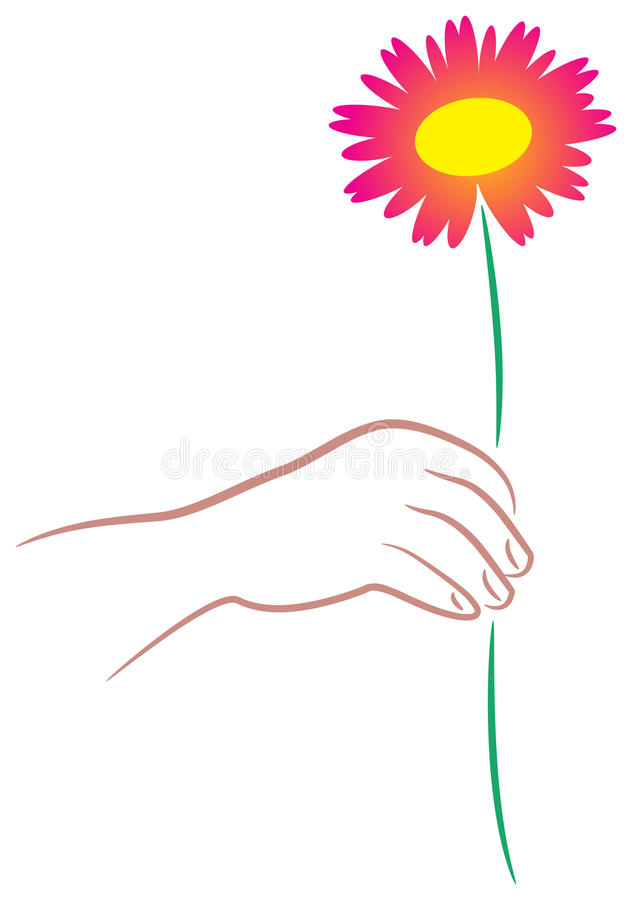 Download Giving flower stock vector. Image of flower, drawing - 15906637
