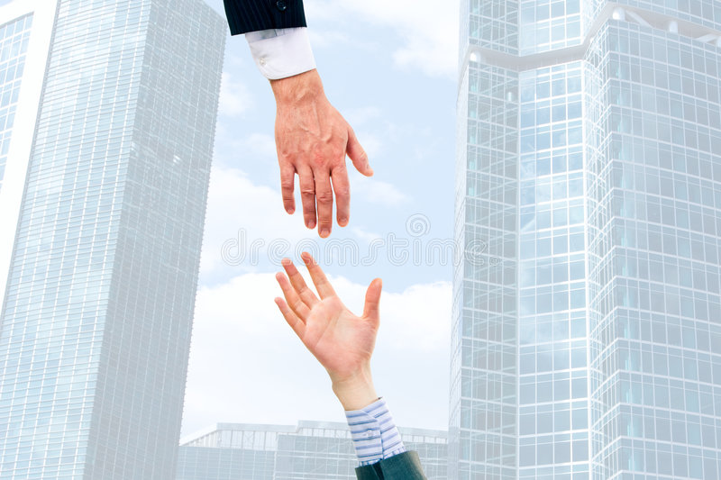 Giving hands stock photos