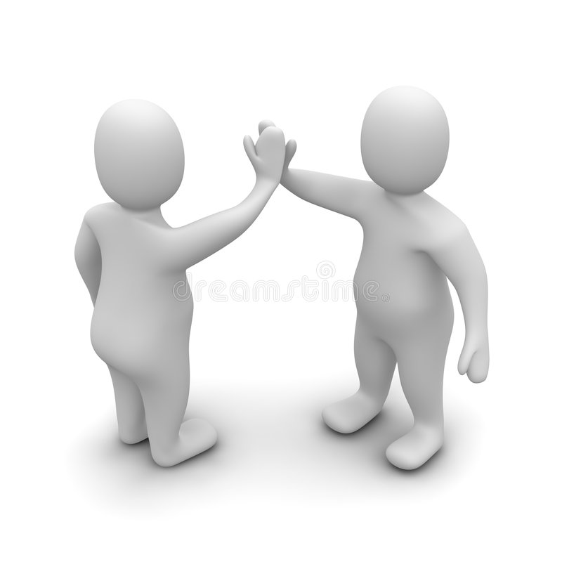 Giving high five royalty free illustration