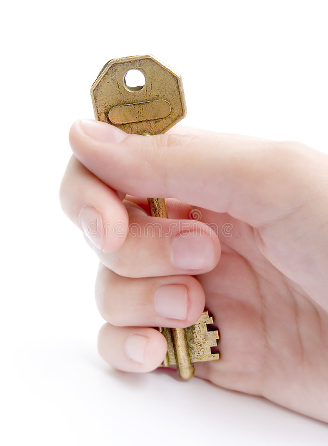 Giving The Key stock photos