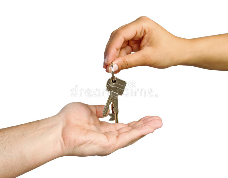 Giving Keys To New Home Royalty Free Stock Photo