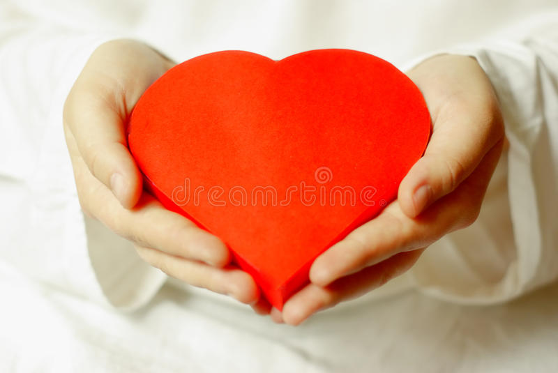 Giving love stock image