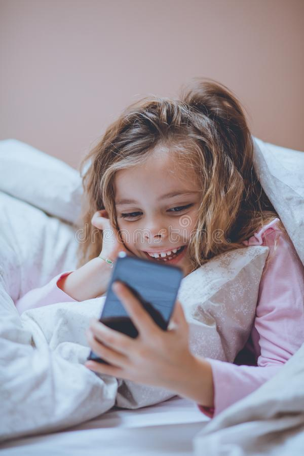 Giving mom a break from bedtime stories royalty free stock photography