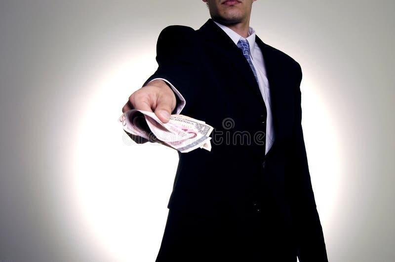 Giving the money stock photo