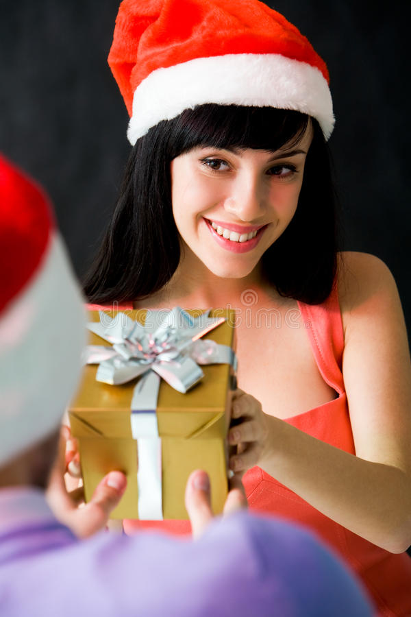 Download Giving present stock image. Image of festive, face, paper - 11992821