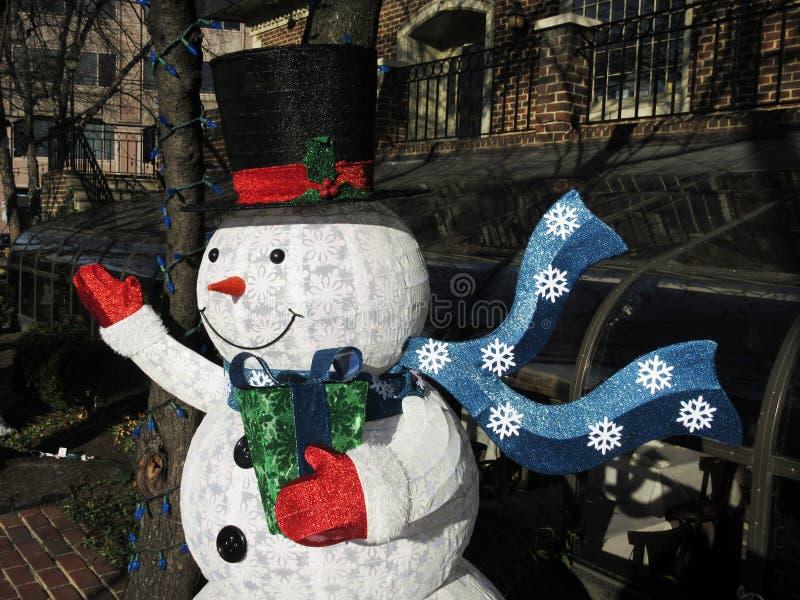 Givré le bonhomme de neige photographie stock