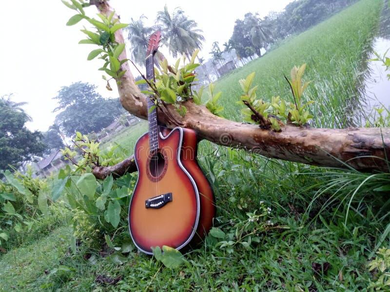 Givson-Gitarre lizenzfreie stockbilder