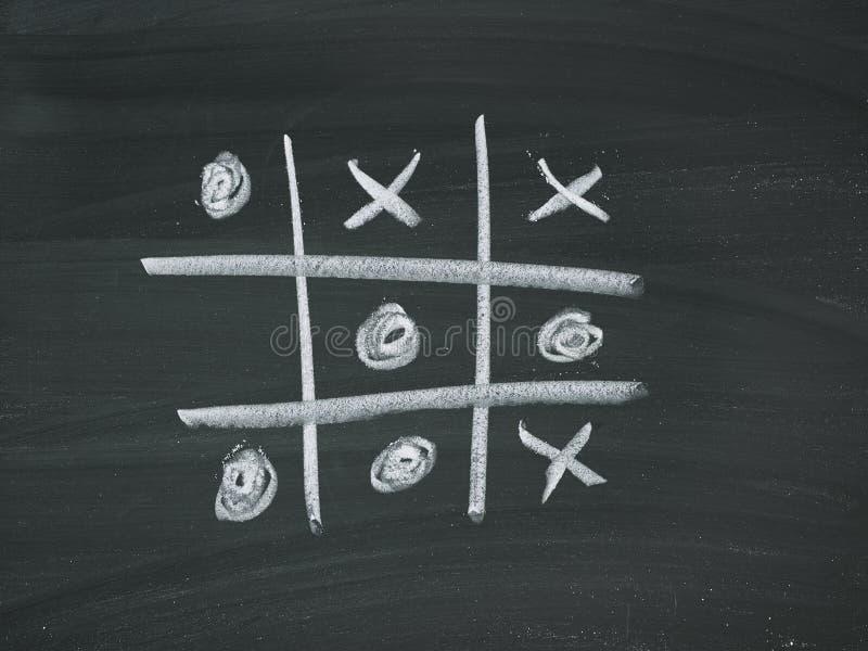 Giz de quadro-negro de quatro vitórias imagem de stock royalty free