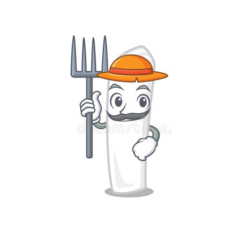 Giz do fazendeiro isolado com na mascote ilustração royalty free