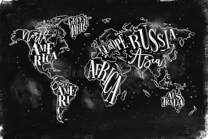 Giz do vintage de Worldmap ilustração royalty free