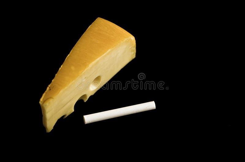 Giz e queijo fotos de stock royalty free