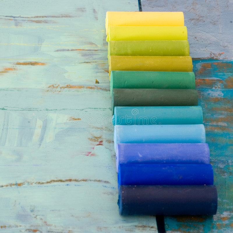 Giz pastel colorido imagem de stock