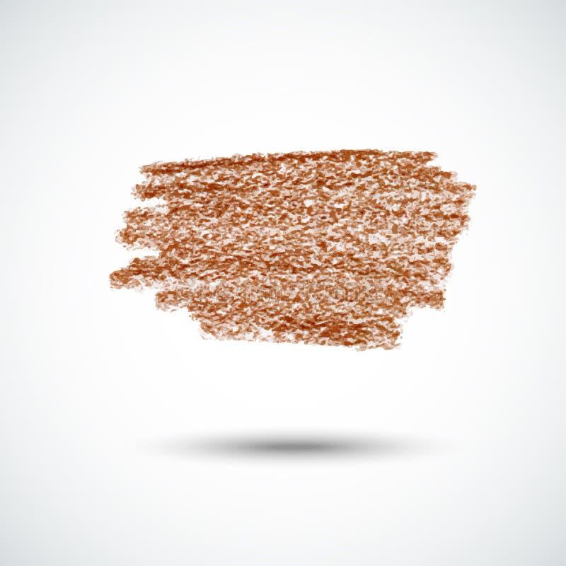 Giz texture2 de Brown ilustração do vetor