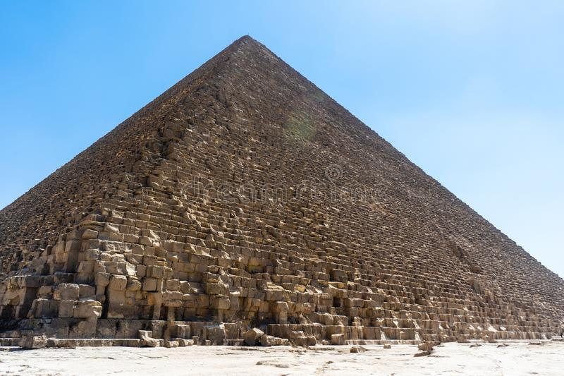 Giza, πυραμίδα του Καίρου, Αίγυπτος - Cheope στοκ φωτογραφία με δικαίωμα ελεύθερης χρήσης