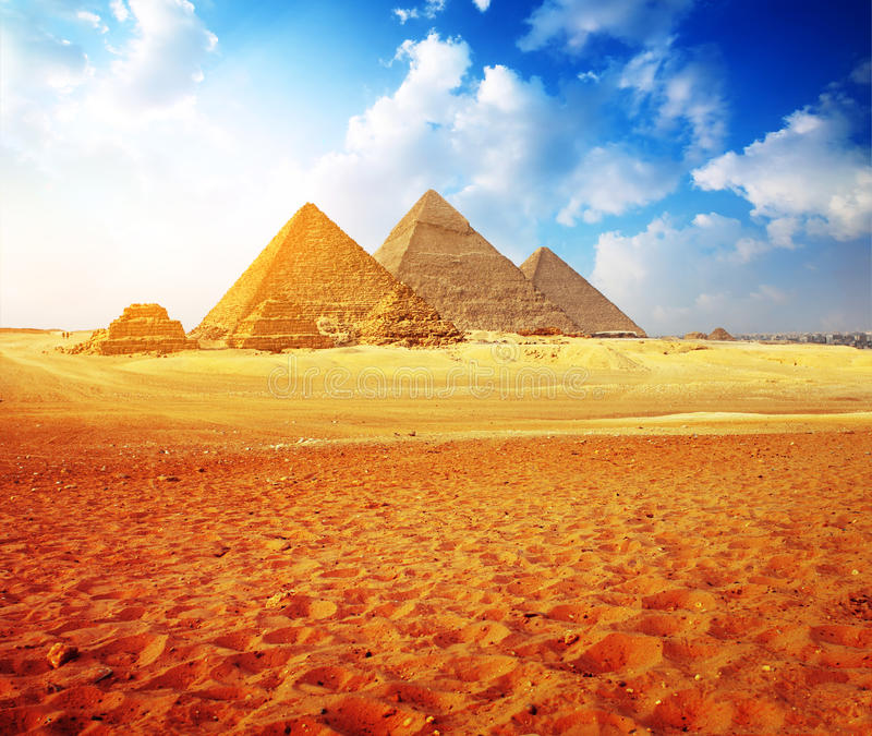 Download Giza stock photo. Image of pyramid, cheops, clouds, necropolis - 21348644